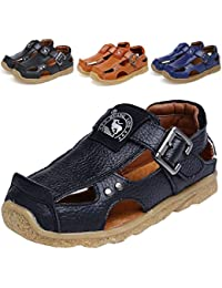 Boy's Girl's Athletic Summer Leather Outdoor Closed-Toe Strap Sandal(Toddler/Little Kid/Big Kid)