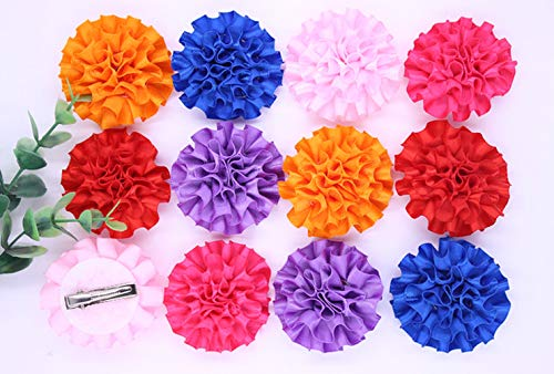 20pcs 10Pairs Pet Dog Hair cilp Cute Large Ball-Flower Style Pet Dog Clip Mix color Accessories Pet Grooming Products