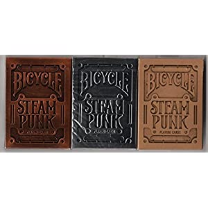 BICYCLE STEAMPUNK PLAYING CARDS 3 DECK SET BY USPCC & THEORY11