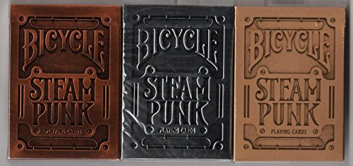 BICYCLE STEAMPUNK PLAYING CARDS 3 DECK SET BY USPCC & THEORY11 3