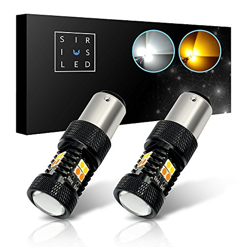 Turn Switch Signal Bmw (SiriusLED Super Bright White and Amber Switchback 3030 Chipset SMD LED Bulbs with Projector for Car Turn Signal Lights DRL 1157 2057 2357 7528 BAY15D P21/5W)