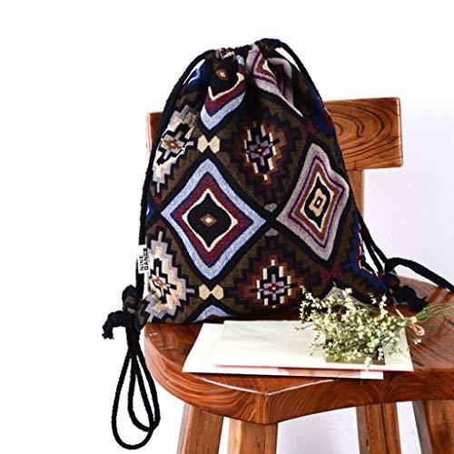 Shoulder Bag High Bohemia Bucket Women Fashion B EUzeo Bag Capacity Printing Backpack wZvAzW1q
