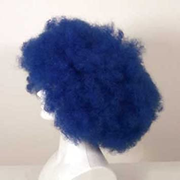 westbay payaso, peluca afro - azul real