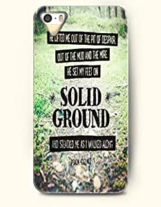 iPhone 4 4S Case OOFIT Phone Hard Case **NEW** Case with Design He Lifted Me Out Of The Pit Of Despair Out Of The Mud And The Mire. He Set My Feet On Solid Ground And Steadied Me Sa I Walked Along Psalm 40:2 Nlt- Bible Verses - Case for Apple iPhone 4/4s