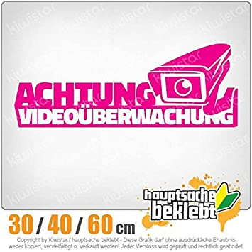 Kiwistar Achtung Videouberwachung Kamera Heckscheibe In 15