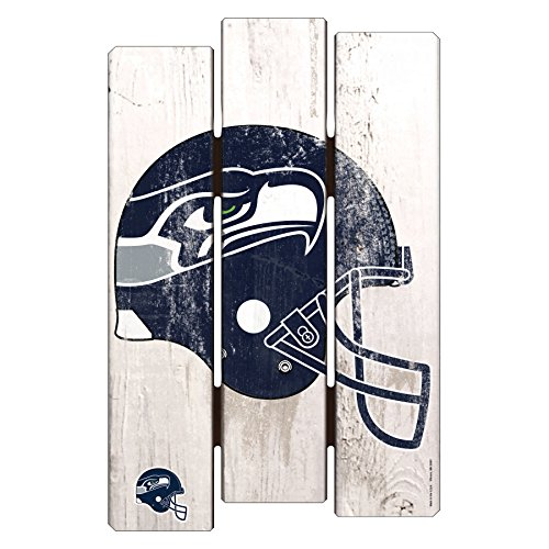 Decor Seahawks Home Seattle - NFL Seattle Seahawks Wood Fence Sign, 11