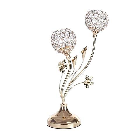Amazon.com: Bseka - Candelabro de cristal para centro de ...