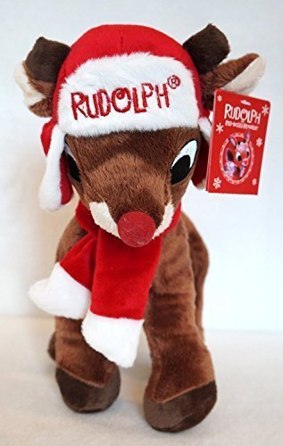 2013 Rudolph the ROT Nosed Reindeer Xmas Plush Doll 11 w/Hat & Scarf NWT by Dan Dee