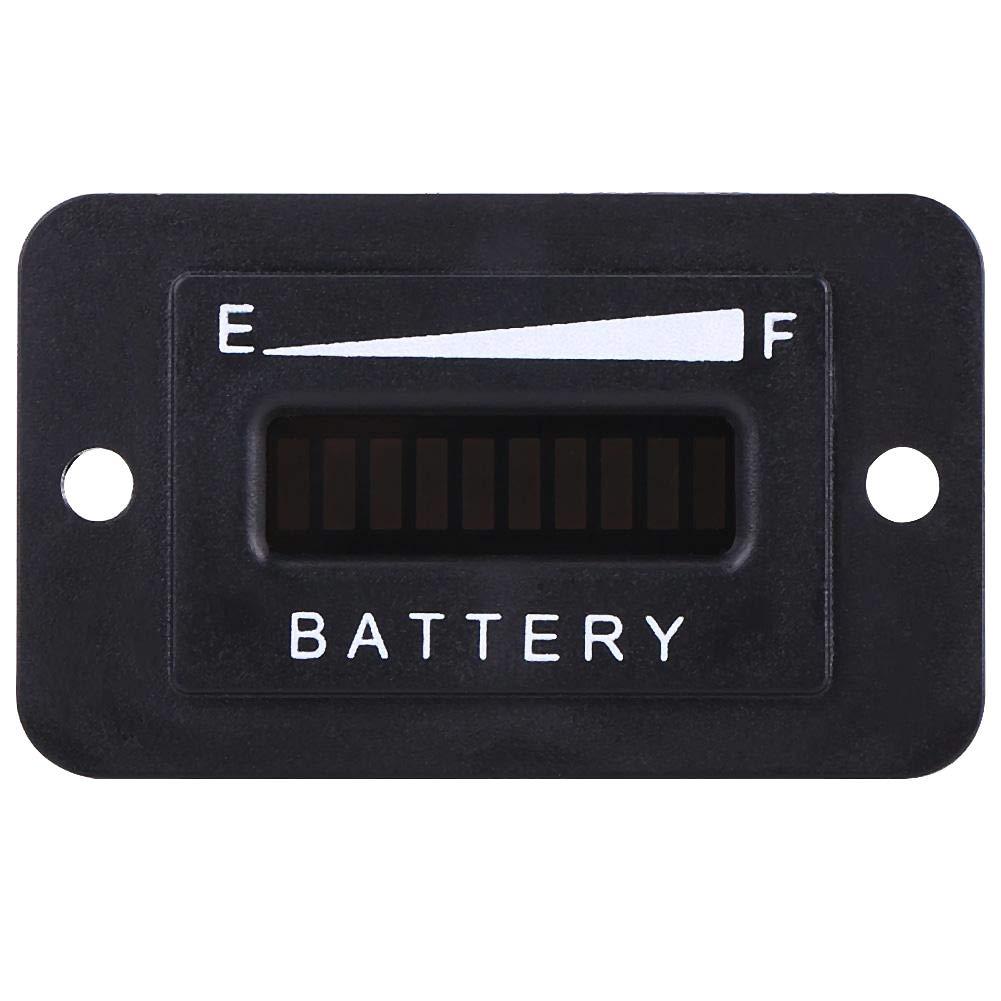 Keenso 12 V 36 V 48V 24 V 48 V Led Digital Batterieanzeige Meter f/ür Golfwagen