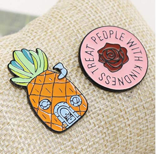 Creative Fruit Pineapple Clothing Rose Brooch (1) by Angelstore Brooch (Image #7)