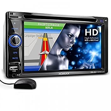 XOMAX 2DTSBN6220BT radio de coche / Moniceiver reproductor multimedia / naviceiver con GPS + NAVIGATION software