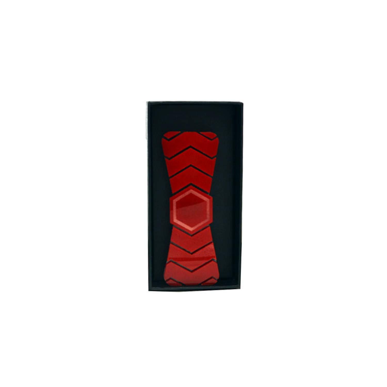 Thadensama Handmade Geometric Shape Bow Tie Limited Edition Ties Shinning Red With Gift Box