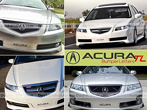 Black Front Bumper Letter Inserts for Acura TL 2004 2005 2006 2007 2008 Not (Acura Tl Rear Bumper)