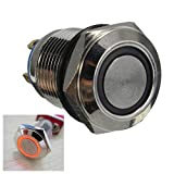 12mm 2A/36VAC Metal Push Button Switch WaterProof Flat LED Lighted Switch