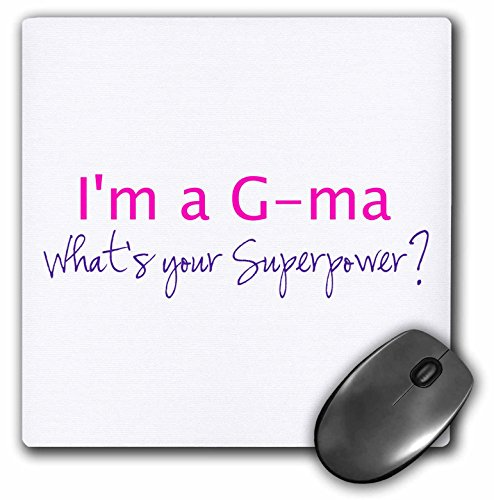Pad Hot Super Mouse (3dRose Im a G-Ma Whats Your Superpower Hot Pink Funny Gift for Grandma Mouse Pad (mp_193733_1))