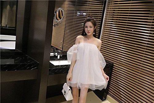 et MiGMV Parole Un Robes Nuit White Shop dans Une M Robes la col Sexy qqABftw