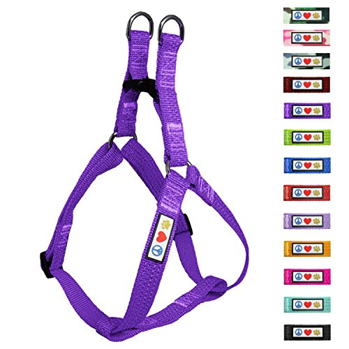 Pawtitas Reflective Step in Dog Harness or Reflective Vest Harness, Comfort Control, Training Walking of Your Puppy/Dog Small Dog Harness S Purple Dog Harness