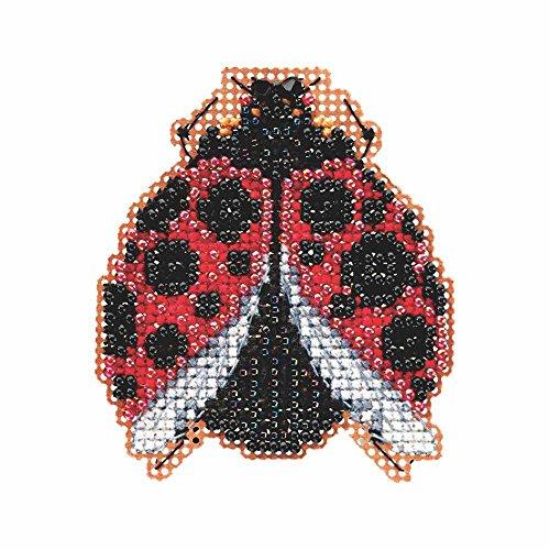 Ladybug Hug Beaded Counted Cross Stitch Kit Mill Hill 2015 Spring Bouquet - Stitch Kit Mill Cross
