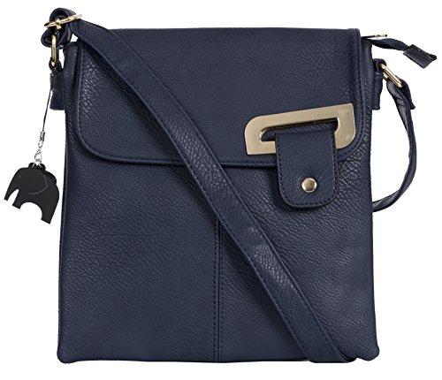 Bolso Messenger Para Shop Handbag Cruzado Tamaño Mujer Marino Azul Oro Mediano Detalle Big Bandolera Tipo Ewxq4HCC0