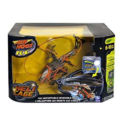 Airhogs Remote Control Rc Heli Cage Helicopter Orange from Air Hogs
