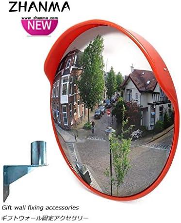 カーブミラー 交差点のための凸交通安全ミラーPCプラスチックオレンジアウトドア、狭い道路、急カーブ RGJ4-27 (Size : 800mm)