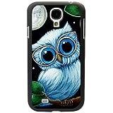 Semoss 1 X TPU Schutzhülle für Samsung Galaxy S4 i9500 i9505 Eule Silikon TPU Tasche Etui Hülle Owl Muster