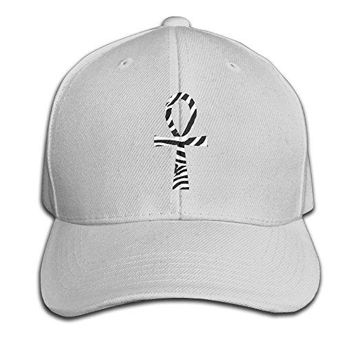 Wiyeres Ankh With Zebra African Snapback Sandwich Cap Ash Baseball Cap Hats Adjustable Peaked Trucker Cap