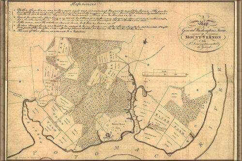 Map of Mount Vernon Drawn by George Washington - 24