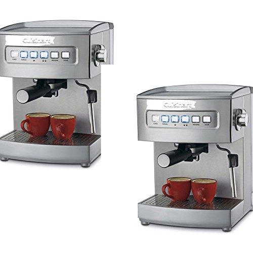 CuisinartStainless Steel Fully Automatic Espresso Machine - Cuisinart Model - EM-200 - Set of 2 Gift Bundle (Cuisinart Pump Espresso compare prices)