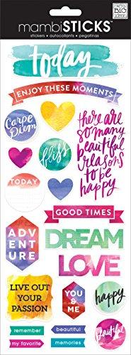 - me & my BIG ideas Painted Carpe Diem Sticker