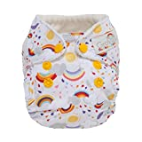 #9: GroVia Newborn All in One Snap Reusable Cloth Diaper (AIO) (Rainbow Baby)