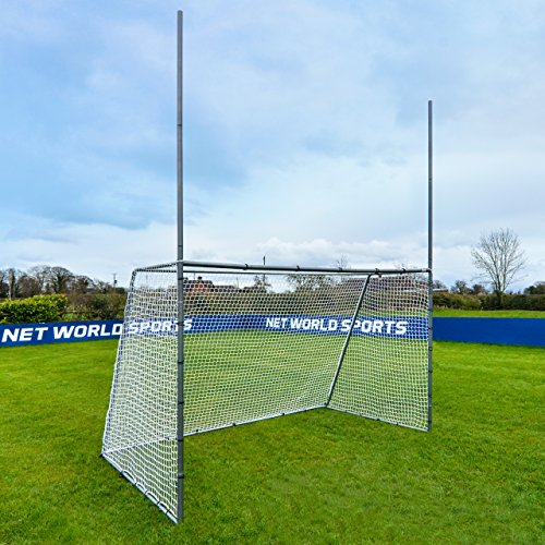 - Net World Sports Forza Steel42 Football/Soccer Combination Goal Posts - Super Strong Steel Goals for The Backyard (10ft x 6ft)