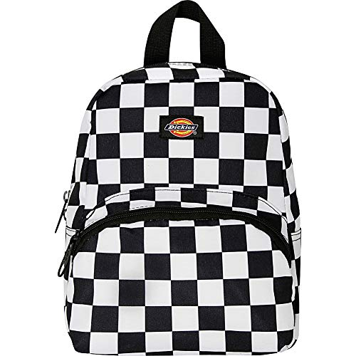 Dickies Mini Mini Festival Backpack Black White Checkerboard