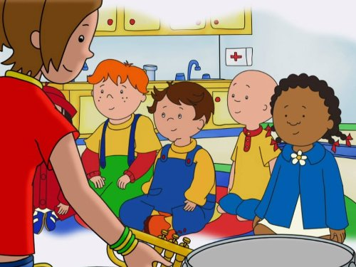- Caillou's Favorite Things & other Stories: Team Player Caillou