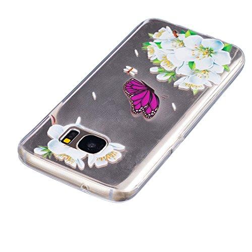 Galaxy S6 Funda Silicona, G920 Galaxy S6 Caja Tótem, Asnlove Carcasa Gel TPU Silicona Bumper Crystal Clear Case Cover Trasparente Protectora Bumper Back Shell Cover Cubierta Tapa Trasera Caja para Sam Color8