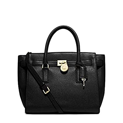 4a211e8e3fe66 Michael Kors Large Black Hamilton Traveler  Handbags  Amazon.com