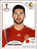 #10: 2018 Panini World Cup Stickers Russia #139 Sergio Ramos Spain Soccer Sticker