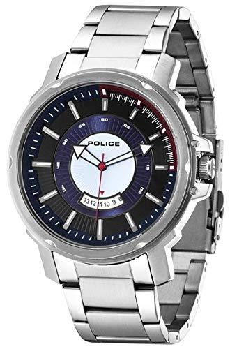 Police para hombre-reloj analógico de cuarzo de acero inoxidable soldado P14382JS-02M: Amazon.es: Relojes