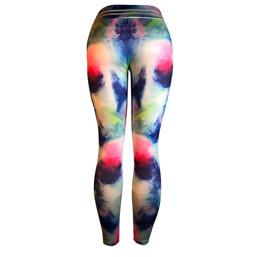 OOEOO Women Casual Workout Leggings Fitness Pleated Sports Running Yoga Athletic Pants