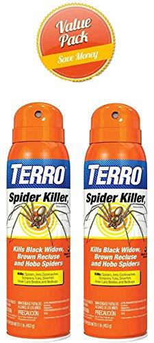 TERRO T2302 Spider Killer Spray, 2 Pack