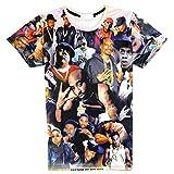 Moji Unisex 3D Printed Shirts Hip Hop 2pac Tupac Print Harajuku Summer Tops T Shirt