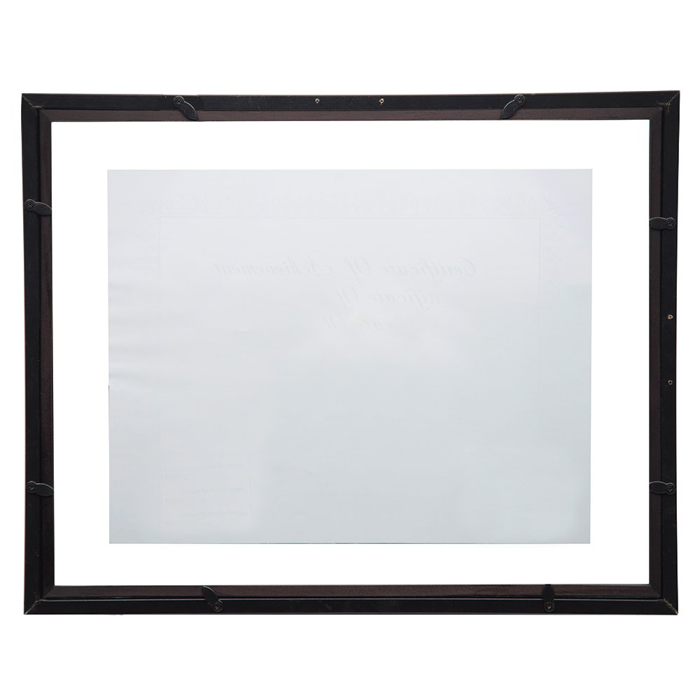 GALLERY SOLUTIONS 11x14 Black Float Document Frame For Floating ...