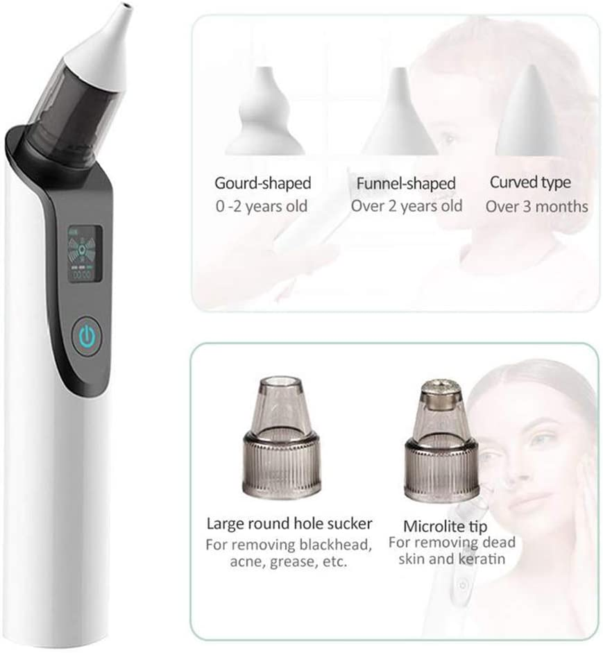 ieGeek Electric 2-in-1 Nasal Aspirator and Pore Cleaner Nose Cleaner Blackhead Remover