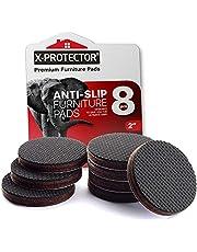 Meubelpads X-PROTECTOR - Non-slip pads - Premium 8 stuks 50mm - Beste Vloerbeschermers - Rubberen voeten voor Meubelvoeten - Ideale Vloerbeschermer Pads voor Bewaar op Plaats Meubels. Stop uw meubilair!