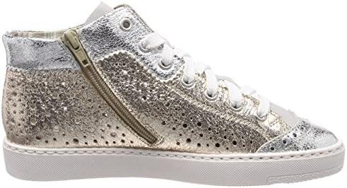 Rieker Damen M79K5 Hohe Sneaker, Weiß (SilberFogGold), 36
