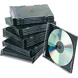 Connect CD Slim Jewel Cases 25 pieces Black - fundas para discos ópticos (Negro, 25 Discos)