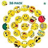 Emoji Fridge Magnets, Pococina 26 Pack Magnetic Whiteboard Magnet...