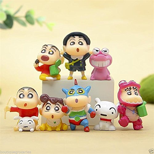 8pcs New Japan Anime Crayon Shin-Chan Mini Action Figure Collection Toys Gift (Toy Story Collection Buttercup)
