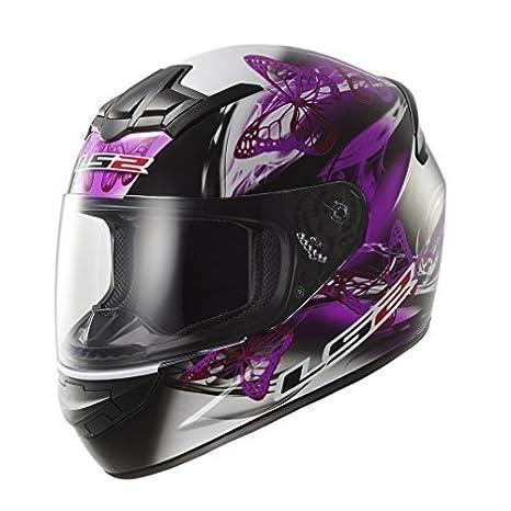 LS2 FF351 FF352 - Casco integral de mujer para motocicleta, diseño ondulante de