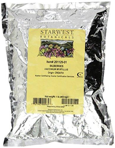 Organic Bilberries Whole by Starwest Botanicals